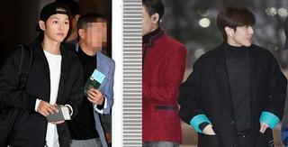 、、【w公式】 OSEN、俳優ソン・ジュンギ 、出国のようす。キラキラまぶしい美貌。