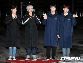 VOISPER、KBS「ミュージックバンク」リハーサル出勤完了。14日、ソウル・汝矣島。