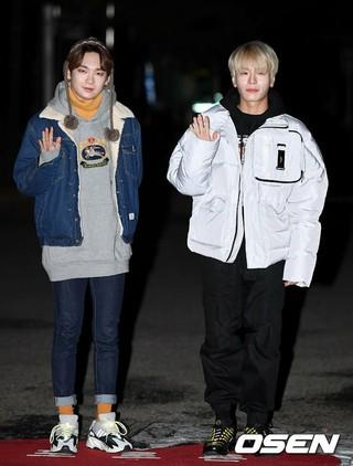 JBJ95、KBS「ミュージックバンク」リハーサル出勤完了。14日、ソウル・汝矣島。
