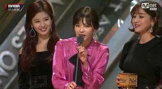 TWICE、「2018 MAMA in HONG KONG」ベストガールズグループ賞を受賞。。