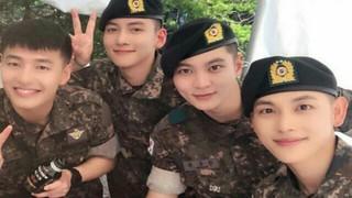 軍隊所属の韓国芸能人、2019年の除隊その1、俳優チュウォン 。。●義務警察の選抜試験に合格したが、ドラマ出演中で入隊できず取消。2017年5月16日に「現役」として入隊。BoA