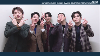 【w公式】 DAY6  、「DAY6 OFFICIAL FAN CLUB &quot&#59;My Day&quot&#59; 2ND GENERATION INVITATION VIDEO」公開。