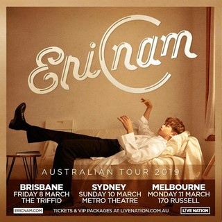 、、【G公式】エリック・ナム、オーストラリアツアーを発表。●AUSTRALIA! See you in March for my first ever Aussie tour