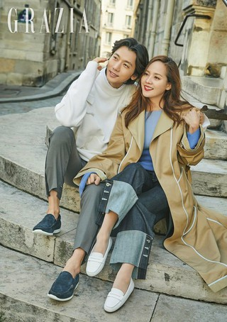 俳優キ・テヨン -S.E.S. ユジン夫妻、画報公開。GRAZIA。