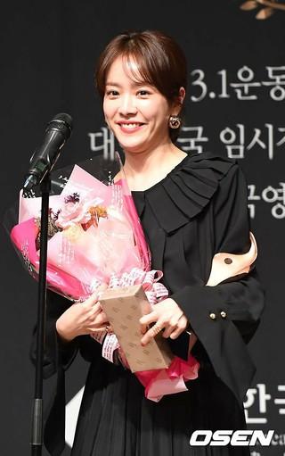 女優ハン・ジミン、「第10回今年の映画人賞」で女優主演賞を受賞。。