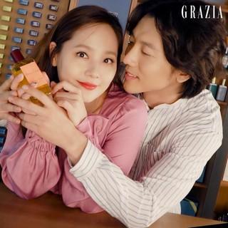、、【g公式gra】GRAZIA、俳優キ・テヨン ユジン  夫妻の画報撮影メイキング映像を公開。