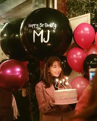 【g公式】「ビョン様夫人」女優イ・ミンジョン、2月16日の誕生日を前に一足早いパーティーでの写真を公開。