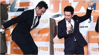 、、【w公式】俳優リュ・スンリョン、チン・ソンギュ、イ・ドンフィ 、コンミョン出席の 映画「極限職業」感謝イベントの様子を公開。