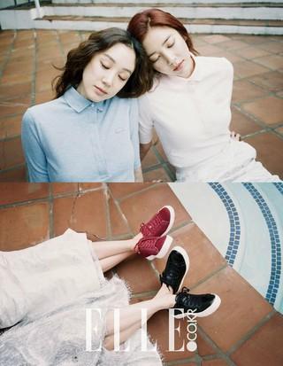 女優チョン・リョウォン と歌手ソン・ダムビ、LA画報公開。ファッション誌「ELLE」。