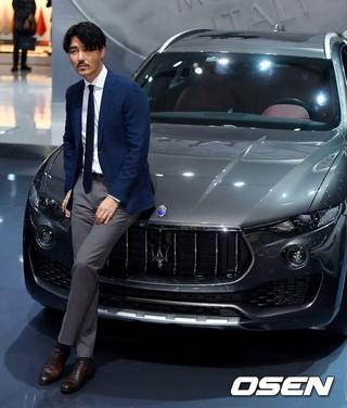俳優チャ・スンウォン、「2017ソウル・モーターショー」プレスデーに出席。@高陽市・KINTEX