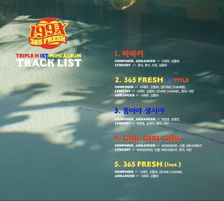 4Minute 出身ヒョナ、Pentagon 参加のTriple H、1ST MINI ALBUM [199X] TRACK LIST公開。5月1日発表。 (1枚)