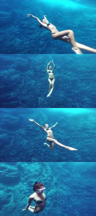 NSユンジ、SNS更新。海中のショットは、まるで人魚姫のよう!