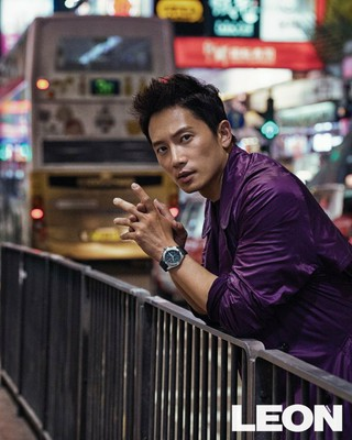 俳優チソン、画報公開。雑誌LEON。香港で撮影。ノワール映画のワンシーンのような画報。