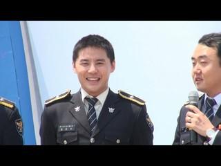 【動画】JYJ XIA Junsu ジュンス - Dangerous パフォーマンス、京畿南部警察広報団。本日、水原。
