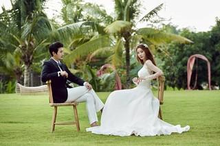 本日(5月22日)挙式をあげるユン・ソイ - チョ・ソンユンのウェディング写真。