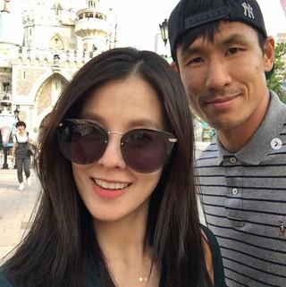 キム・ソンウン、出産前日(5月29日)にSNSを更新。夫チョン・ジョグク選手と遊園地デート。