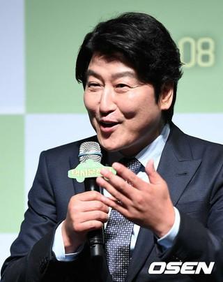 俳優ソン・ガンホ、制作報告会に出席。出演映画「タクシー運転士」。