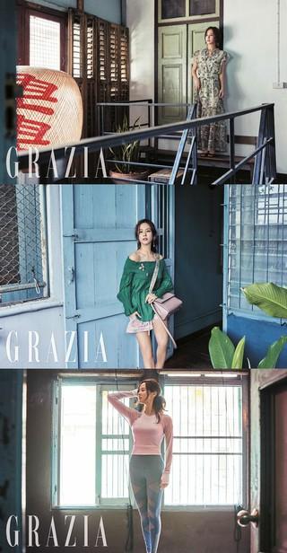 女優チョ・ヨジョン、画報公開。ファッション誌GRAZIA。