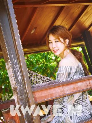女優ユ・インナ、画報公開。韓流雑誌KWAVE M。