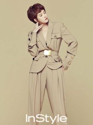 女優キム・ソナ、画報公開。雑誌「Instyle」。