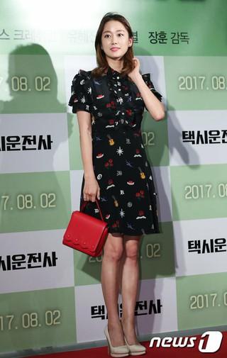 女優チョン・ヘビン、映画「タクシー運転手」のVIP試写会に出席。@ソウル・龍山CGV。