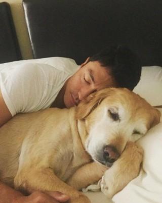 俳優ダニエル・ヘニー、SNS更新。愛犬のマンゴーと。