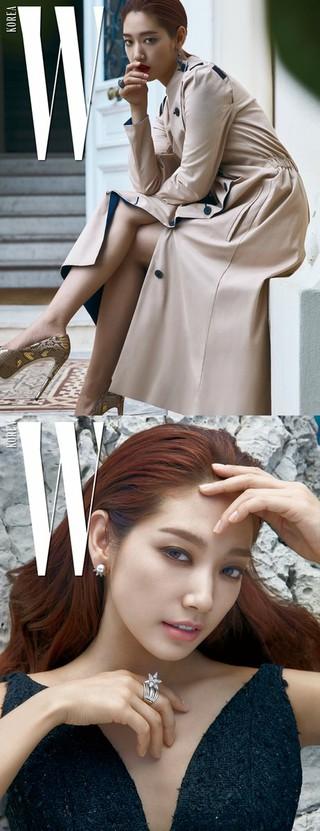 女優パク・シネ、画報公開。雑誌「W KOREA」より。
