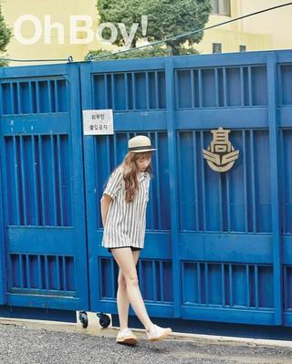 歌手ペク・アヨン、画報公開。ファッション誌Oh Boy!