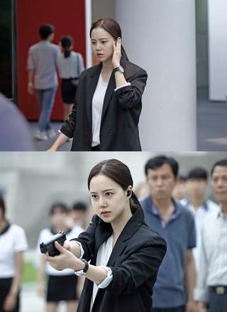 ドラマ「クリミナル・マインド」、女優ムン・チェウォン の撮影現場スチール公開。