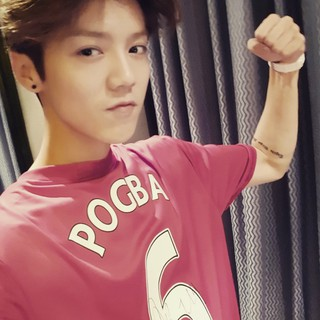 EXO 出身LUHAN、SNS更新。「May the power be with you,keep on fighting till the end,gogogo Pogba,go