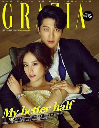 俳優イ・ドンゴン 女優チョ・ユンヒ 夫妻、画報公開。雑誌「GRAZIA」。