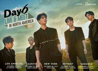 DAY6、10月に北米5か所でツアー開催!
