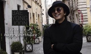 俳優ペ・ヨンジュン、きょう(8月29日)誕生日。もうすぐ2児のパパ。Wでおめでとうございます!