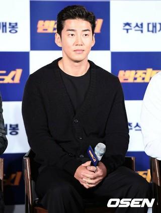 俳優ユン・ゲサン、映画「犯罪都市」の制作報告会に出席。