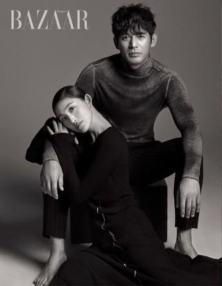 俳優オ・ジホ &バレリーナ、キム・ジュウォン、画報公開。雑誌「BAZAAR」。