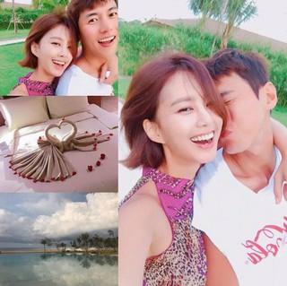 俳優ソン・ジェヒ -チ・ソヨン夫妻、新婚旅行中の写真公開。
