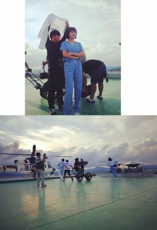 女優ハ・ジウォン、熱演する姿公開。MBCドラマ「病院船」の撮影ビハインドカット。