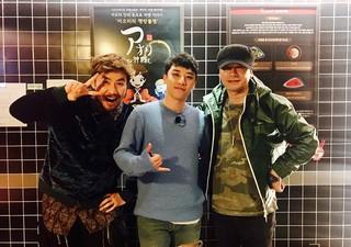 BIGBANG V.I、SNS更新。「MIXNINE 芸能事務所ツアー最後 夜ご飯 アオリラーメン。会長ありがとうございます。ホンチョル兄さんありがとう。MIXNINE絶対に逃さな