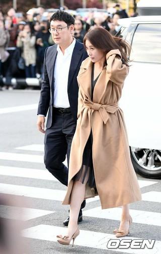 女優ムン・ソリ、俳優ソン・ジュンギ-ソン・ヘギョの結婚式に出席。31日午後、新羅ホテル。