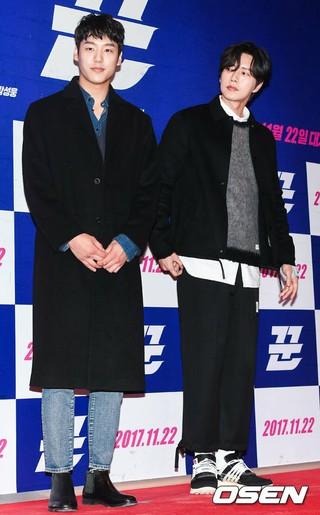 俳優クァク・シヤン &amp&#59; パク・ヘジン、映画「クン」VIP試写会に出席。ソウル・COEXメガボックス。