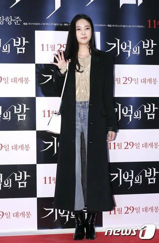 歌手NSユンジ、映画「記憶の夜」VIP試写会に出席。ソウル・COEXメガボックス。