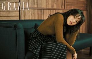 女優チョン・ウヒ、画報公開。雑誌「GRAZIA」より。