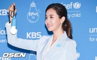 女優イ・ダヘ、ユニセフ行事に参加。ソウル汝矣島(ヨイド)KBS公開ホール。ブルーライトキャンペーン。
