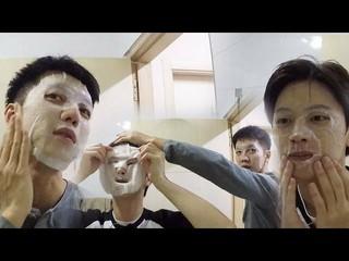 【公式sbe】イ・スンギ、ユク・ソンジェ(BTOB)、仲良くマスクパック。バラエティ「執事部一体」 第2回20180107