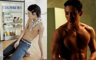 運動して肩幅を倍に鍛え上げた男性スターたち。