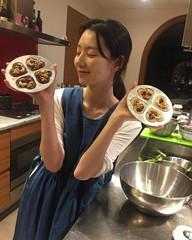 ヨン様夫人パク・スジン、幸せいっぱいのバレンタインチョコ作り♪