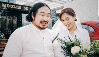 10年恋愛の末結婚した芸人カップルイ・ウンヒョン♥カン・ジェジュン、ロマンティックなウェディンググラビア