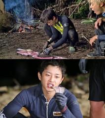 俳優キム・ミンソク、アルバイトで鍛えたという見事な魚さばきを披露。