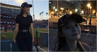 WBC観戦にアメリカを訪れた「Davichi」カン・ミンギョンのプロポーションにびっくり!