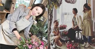 妊娠中の女優ファン・ジョンウム、お花を楽しみながらママの顔を見せる♪